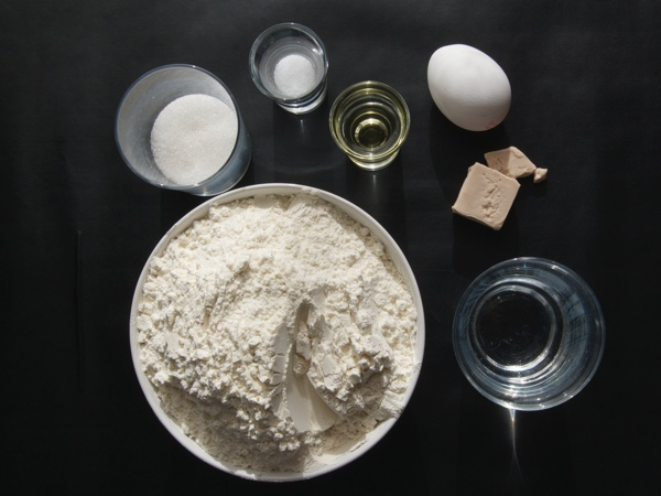 Challah ingredients