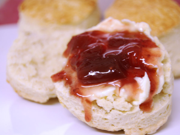 scone et clotted cream