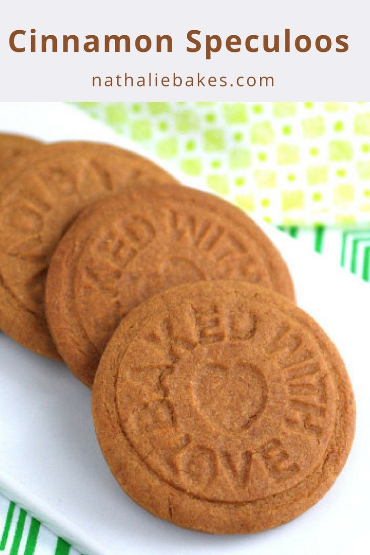 These cinnamon speculoos cookies (also called Biscoff or speculas cookies) are deliciously crispy and fragrant. Their distinctive spicy aroma comes from the addition of a LOT of cinnamon and the caramelizing of the brown sugar. Yummy. | nathaliebakes.com