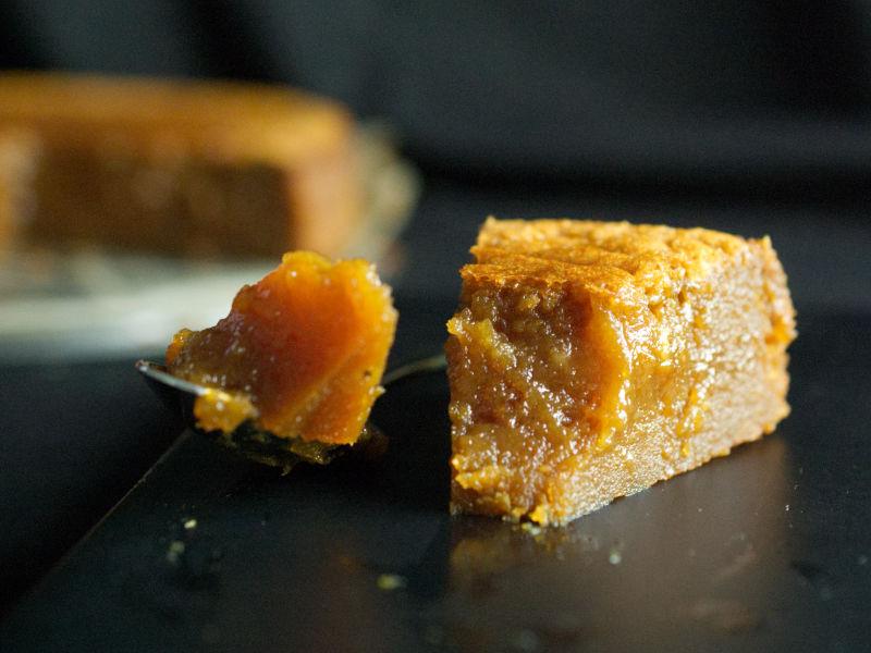 Bouchée de fondant au caramel beurre salé