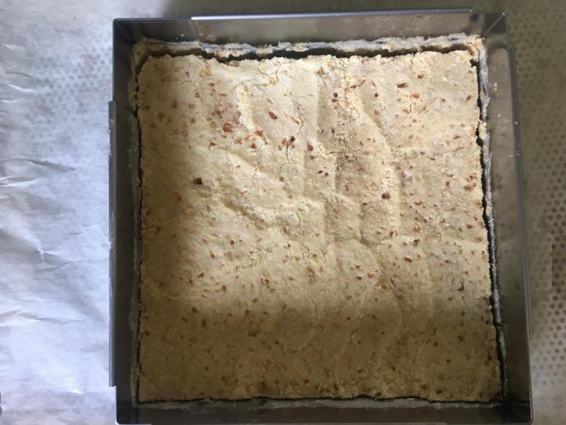 pâte sablée des carrés