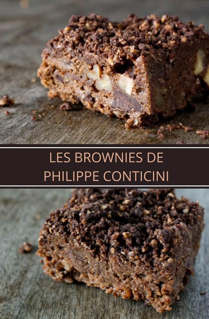 Des brownies de luxe, avec des pépites de chocolat, des morceaux de noix de pécan caramélisées et un streusel chocolat. Succès garanti! | nathaliebakes.com
