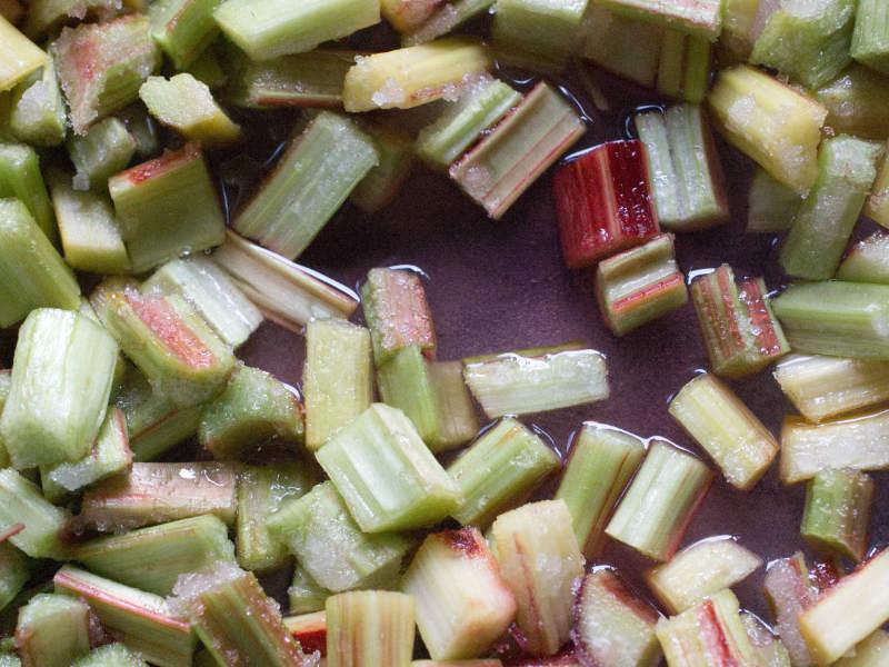 baked rhubarb