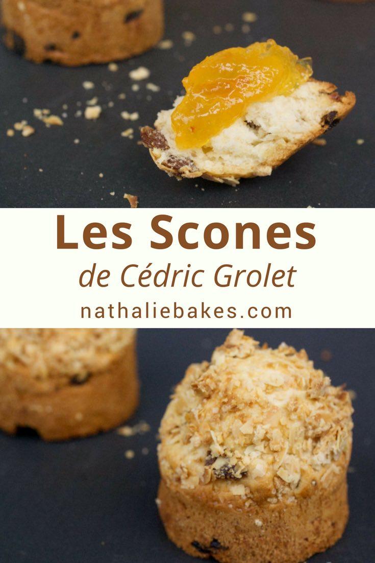 La recette de scones de Cédric Grolet que l'on peut déguster au tea time du Meurice. Moelleux et croustillants grâce à l'ajout d'un crumble, ces scones agrémentés de clotted cream et de confiture feront le parfait goûter! #scones #clottedcream #cedricgrolet | nathaliebakes.com