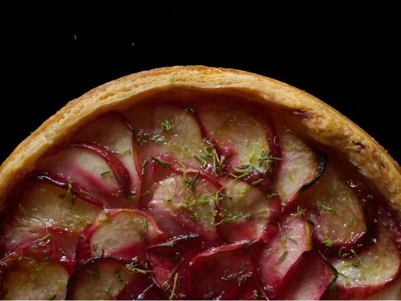tarte aux peches ottolenghi